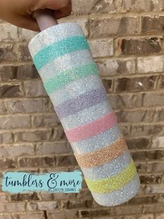 Diy Tumblers, Custom Tumblers, Glitter Tumblers, Glitter Cups, Green Glitter, Tumbler Cups, Tumbler Stuff, Custom Cups, Mason Jar Wine