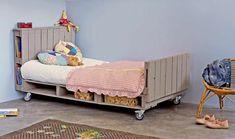 Kinderbett Aus Paletten Mit Stauraum