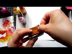 Create a Collage Card with Alcohol Inks --my FIRST tutorial! - YouTube