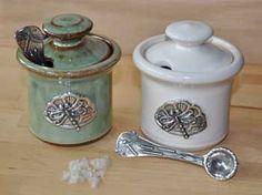Dragonfly Ceramic Salt Cellar, Two Colors