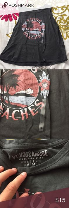 Adios Beaches Tank From Buckle Never worn, perfect condition, soft and comfortable, relaxed fit, slightly cropped depending how tall you are. The tag is even still on the front! Amuse Society Tops Tank Tops