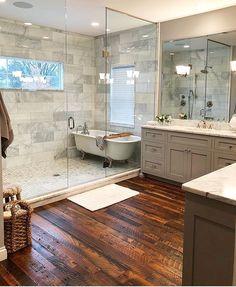 Stunning Master Bathroom Remodel Ideas – Home Design Bathroom Renos, Bathroom Interior, Modern Bathroom, Bathroom Ideas, Bathroom Designs, Budget Bathroom, Restroom Ideas, White Bathroom, Peach Bathroom