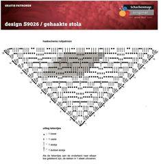 omslagdoek-margriet_patroon Catania, Free Pattern, Words, Crochet, Nice, Tutorials, Summer, Jackets, Colour