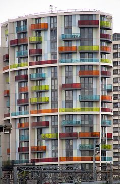 Colored Balconies    Olympic Village, London