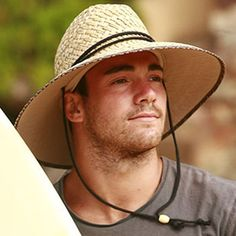 Mens Straw Surf Hat