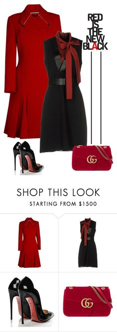 """""""Untitled #745"""" by jovana-p-com ❤ liked on Polyvore featuring Roland Mouret, Gucci and Christian Louboutin"""