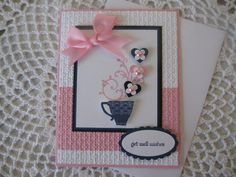 Handmade Greeting Card Get Well Wishes by ConroysCorner on Etsy, $4.00
