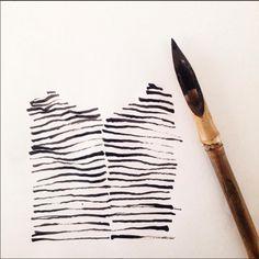 Caroline Tomlinson sketchbook. Striped tops, forever in style. www.carolinetomlinson.
