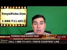 MLB Picks Predictions Betting Odds Preview Thursday 10-13-2016