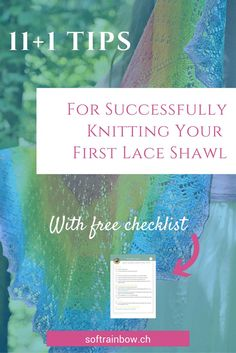 knitting tips, lace shawl knitting, successfully, beginner lace knitter