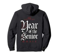 Class Of 2019 Year Of The Senior Hoodie for Him and Her G... MMXIX Year of the senior. Fun senior grad novelty Latin year gothic text hoodie for teen boy or girl.  Funny graduating student gifts and gift ideas for college or high school graduate teens, boys and girls. Gothic Text, Class Of 2019, Student Gifts, Hoodies, Sweatshirts, Boys, Girls, Boy Or Girl, High School