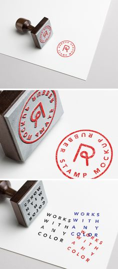 Free #Rubber #Stamp PSD #MockUp 3