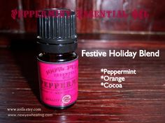 Nothing smells more festive than a blend of orange, peppermint, and cocoa in the diffuser