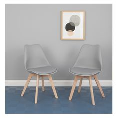 JERRY Pair of grey dining chairs