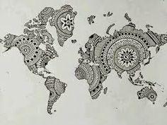 Resultado de imagem para mapa mundi pinterest