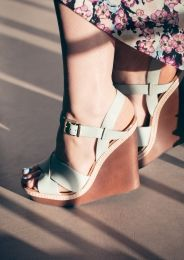 Wooden Wedge Sandals