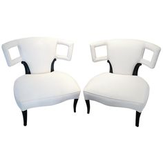 A pair of Sculptural Grosfeld House Side Chairs | From a unique collection of antique and modern slipper chairs at http://www.1stdibs.com/furniture/seating/slipper-chairs/