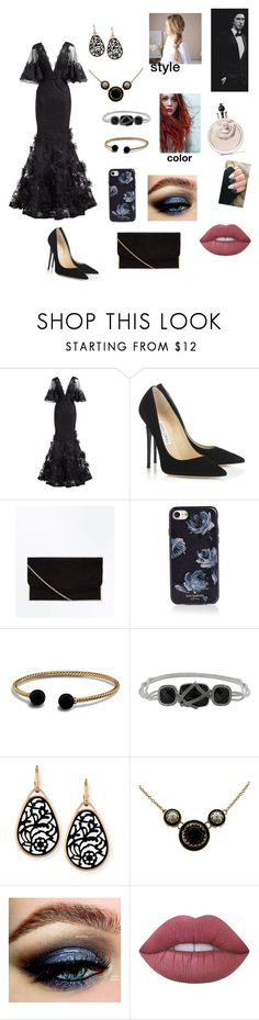 """Red Carpet with Adam"" by piercethesirens-25 ❤ liked on Polyvore featuring Marchesa, Jimmy Choo, Kate Spade, David Yurman, Napier, Pomellato, Lime Crime, Valentino and ADAM"