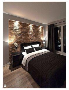 Modern Bedroom Decor, Small Room Bedroom, Master Bedroom Design, Bedroom Furniture, Bedroom Ideas, Bedroom Designs, Men Bedroom, Bed Ideas, Small Rooms