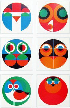 paul_ibou_iboo_hibou_owl_cards_cartes_greeting_voeux_seventies_1970_70s_70ER_Vermeersch