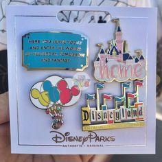 DLR - Flair Pin Set of 4 - Disneyland - pins & patches - Retro Disney, Disney Cute, Vintage Disney, Souvenirs Disney, Disney Vacations, Disney Trips, Disney Pin Trading, Walt Disney, Disney Parks