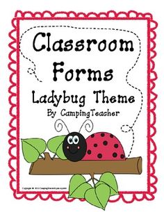 Classroom Forms and Documents - Ladybug Theme
