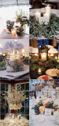 Winter Wedding Décor Ideas That Will Take Your Breath Away - Wedding Decor - Winter Barn Weddings, Winter Wedding Receptions, Winter Wedding Centerpieces, Elegant Winter Wedding, Winter Wedding Decorations, Wedding Themes, Wedding Ideas, Winter Wedding Dresses, Fall Wedding