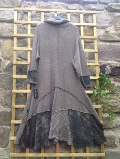 "Lagenlook Sarah Santos Newseason AW14 Coat Chocolate Layering 52 54""Bust 22 24UK | eBay"