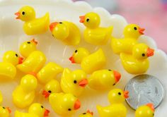 Rubber Duckies  18mm Tiny Adorable Miniature Rubber by delishbeads