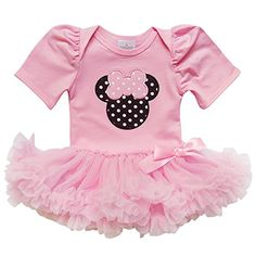 e107c8211cd0 So Sydney Baby Toddler Girl Minnie Mouse Pinks Tutu Chiffon Skirt Onesie  Romper (S Months)