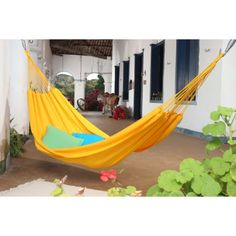 Island Bay Small Traditional Hand Woven Brazilian Solid Colored Single Hammock