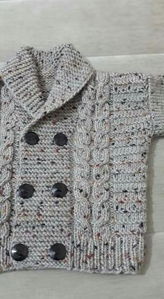 Diy Crafts - -Knit Baby Sweater, Hand Knitted Grey Baby Cardigan, Gray Baby boy Clothes, New Born Baby Gift for Baby Showers, Cable Knit coat Baby Knitting Patterns, Crochet Baby Sweater Pattern, Crochet Baby Sweaters, Baby Boy Knitting, Knitted Baby Cardigan, Knitting Designs, Baby Patterns, Free Knitting, Knitting Ideas