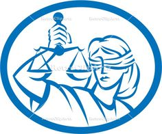 artwork, blindfold, female, graphics, holding, illustration, isolated, justice, lady, law, oval, retro, scales of justice, symbol, woman