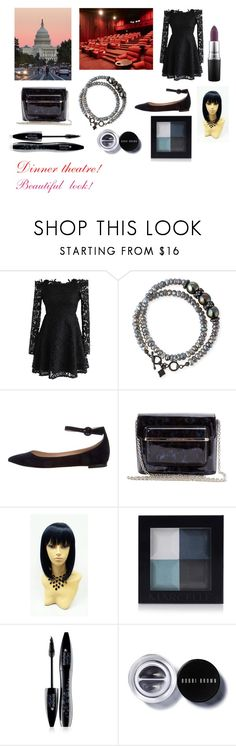 """""""For musicfreakofnature (friend) - musicfreakofnature's ideal wardrobe by me: Dinner theatre!"""" by sarah-m-smith ❤ liked on Polyvore featuring Chicwish, Armenta, Gianvito Rossi, Mary Katrantzou, Lancôme, Bobbi Brown Cosmetics and MAC Cosmetics"""