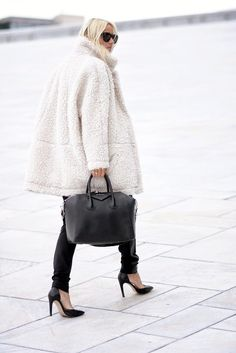 The Perfect Way To Dress Up A Cozy Teddy Coat