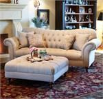 Victoria Sofa and Cocktail Ottoman at Downeast
