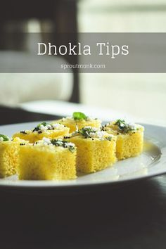 Trying to make a spongy Dhokla? Here's a list of some of the common reasons why your Dhokla doesn't turn soft and spongy. Lunch Snacks, Easy Snacks, Yummy Snacks, Delicious Desserts, Snack Recipes, Dessert Recipes, Yummy Food, Yummy Recipes, North Indian Recipes
