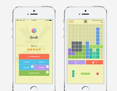 """Check out new work on my @Behance portfolio: """"Grid - Game App""""…"""