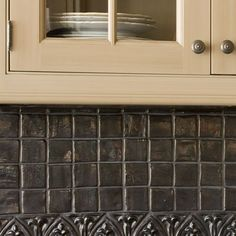Southern Accents 2009 Riverhills Showhouse, Charcoal-Colored Backsplash Tile