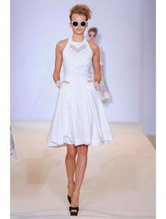 Temperley London Sacha Chevron Lace dress