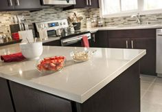 Countertops White Quartz And Small Kitchens On Pinterest