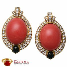 This #coral studded #diamond #studs will make an alluring impact! more designs at http://coral.org.in/ #jewelry #gemstone #earrings #fashionblogger #fashionable #stylish