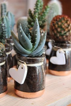 Make a unique wedding favour with this cactus in a jar FREE tutorial