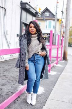38 Inspiring Winter Fashion Style For Plus Size Women Winter Fashion Outfits, Fall Winter Outfits, Look Fashion, Autumn Fashion, 50 Fashion, Fashion Black, Petite Fashion, Fashion Bloggers, Fashion Styles