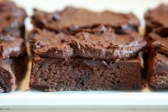 Peanut butter black bean brownies with chocolate-avocado frosting