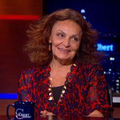 "Diane von Furstenberg to Colbert: ""Once I Empowered Myself, I Empowered Others""   www.pureromance.com/sarahamatthews http://prbysarah.blogspot.com/"