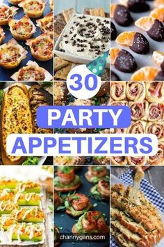 30 Party Appetizers: Food Ideas To Feed A Crowd In need of some food ideas for your party? These 30 party appetizers are perfect for your next party, from a New Years Eve party to game day - these party appetizers won't disappoint! Appetizers For A Crowd, Finger Food Appetizers, Holiday Appetizers, Food For A Crowd, Appetizers For Party, Appetizer Recipes, Appetizer Ideas, Finger Food Recipes, Holiday Recipes