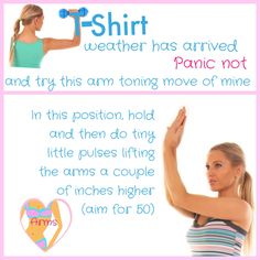 Warmer weather means shorter sleeves :)) So here is a great little exercise you can try. Lucy x https://www.youtube.com/user/LWRFitnessChannel