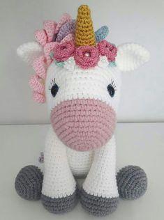 Mesmerizing Crochet an Amigurumi Rabbit Ideas. Lovely Crochet an Amigurumi Rabbit Ideas. Crochet Unicorn Pattern Free, Crochet Horse, Crochet Animal Patterns, Stuffed Animal Patterns, Crochet Patterns Amigurumi, Crochet Dolls, Amigurumi Tutorial, Free Pattern, Cat Amigurumi