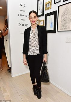 Style queen: Emmy Rossum, 29, showed off her sartorial prowess once again as she led the n...